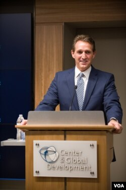 Senator Jeff Flake says Liberia's private sector has a key role in making health care reforms sustainable. (Center for Global Development)