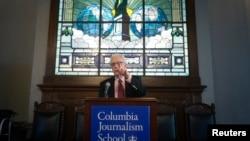 普利策獎主辦組織在紐約哥倫比亞大學宣佈2014年普利策獎得獎的媒體機構。
