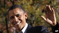백악관으로 돌아온 오바마 대통령