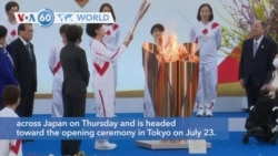 VOA60 Addunyaa - The torch relay for the postponed Tokyo Olympics began its 121-day journey across Japan