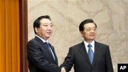 中国国家主席胡锦涛12月26日在北京人民大会堂会晤到访的日本首相野田佳彦