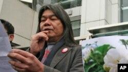 """香港立法會議員、綽號""""長毛""""的梁國雄(資料圖片)"""