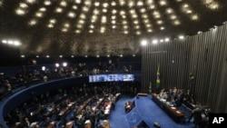 브라질 상원이 지난 25일 지우마 호세프 대통령에 대한 탄핵 최종 절차에 들어갔다( 자료사진)