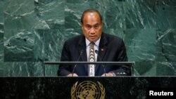 太平洋島國基里巴斯共和國總統塔內希·馬茂 (資料照)
