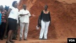 Celmira Silva, governadora de Cabo Delgado, deslocou-se ao local do acidente