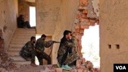 Combatientes kurdos en el norte de Irak.