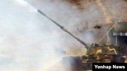 지난 11월 인천 옹진군 연평도 군 부대에서 서북도서 해상사격훈련이 진행되고 있다. (자료사진)