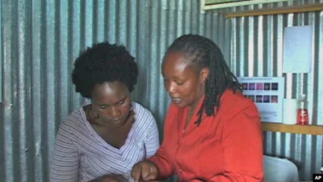 A health educator working in Kenya