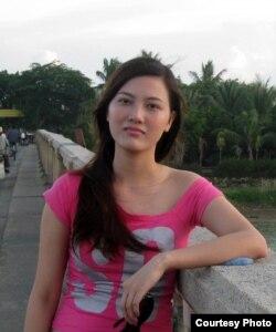 Nhà hoạt động Huỳnh Thục Vy, đại diện Hội Phụ nữ Nhân quyền Việt Nam.