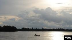 Sông Mekong đoạn đi qua Sambor ở Campuchia.
