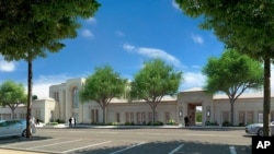 Drawing of Mormon temple planned for Paris
