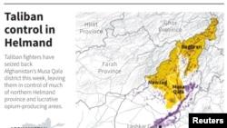 Phiến quân Taliban vẫn đang kiểm soát hai quận khác của tỉnh Helmand, khu vực nổi tiếng trồng thuốc phiện.