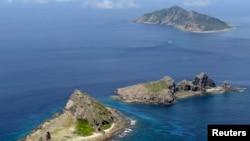 中國與日本在東中國海一組有爭議的島嶼