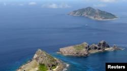 被中国称为钓鱼岛,日本称作尖阁列岛的有争议的岛屿