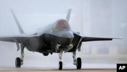 Jet tempur F-35 tiba di pangkalan militer Hill di Utah. (Foto: Dok)