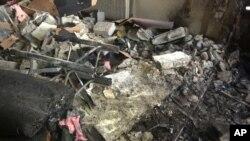 叙利亚警方公布的袭击警察局汽车炸弹照片