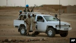 아프리카 말리에 주둔 중인 유엔 평화유지군이 지난 2013년 키달 지역을 순찰하고 있다. (자료사진)