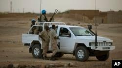 Un véhicule de la Minusma à Kidal, au Mali.