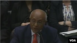 VOA Africa Division Director Negussie Mengesha testifying before the House Foreign Affairs Subcommittee on Africa, Global Health, Global Human Rights, and International Organizations