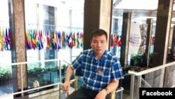 Courtesy photo: Nhà báo độc lập Trương Duy Nhất ở Bangkok, sau khi nộp đơn xin tị nạn với LHQ, ngay trước khi bị bắt cóc đưa về VN.