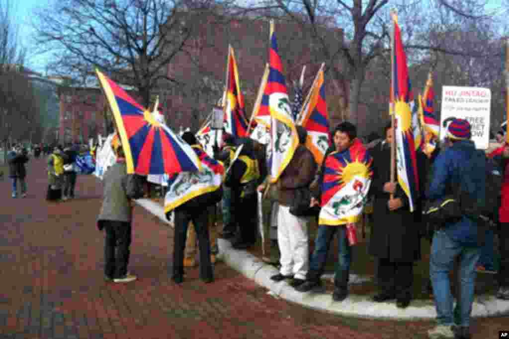 藏族人士抗议中国政府(1)