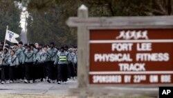 美国维吉尼亚州李堡陆军基地(资料照片)