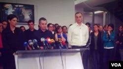 Журналисты оппозиционного телеканала «Рустави 2»