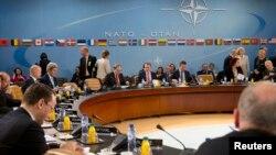 """Pertemuan Menlu NATO di Brussels, Belgia menegaskan kembali """"pertahanan kolektif"""" sesama anggota NATO (1/4)."""