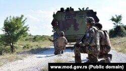 """Detalj sa vežbe """"Platinasti vuk"""" (Foto: Ministarstvo odbrane Srbije)"""