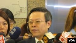 台湾陆委会主委王郁琦(美国之音张永泰拍摄 )