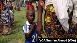 'Yan gudun hijira a Adamawa.