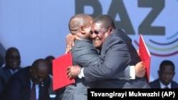 Arquivo: Celebração de Acordo de Paz na Gorongosa a 1 de agosto de 2019