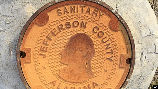A manhole cover bears the logo/design of Jefferson County, Alabama. Alabama's Jefferson County submitted a second offer to creditors in an attempt to settle its $3.14 billion sewer bond debt, and to avoid what would be the largest municipal bankruptcy in