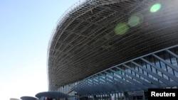 正在修建的北京大兴国际机场(2018年10月 路透社)