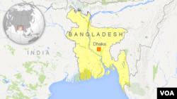 Letak kota Dhaka di Bangladesh.
