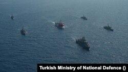 Oruç Reis Gemisi Türkiye'nin NAVTEX ilan ettiği alanda faaliyetlerine başladı.