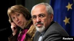 Представниця ЄС Кетрін Ештон (л) і міністр закордонних справ Ірану Мухаммад Джавад Заріф
