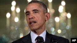 Tổng thống Barack Obama trong cuộc họp với Hội đồng An ninh Quốc gia ngày 25/2/2016.