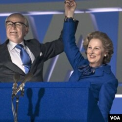 Meryl Streep sebagai Perdana Menteri Inggris di dekade 1980-an, Margaret Thatcher, dalam film 'The Iron Lady.'