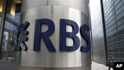Salah satu kantor cabang Royal Bank of Scotland (RBS) di London (foto: dok). RBS diperiksa terkait pelanggaran atas sanksi terhadap Iran.