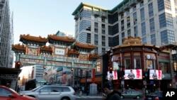 美国首都华盛顿市中心的中国城牌楼