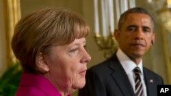 Tổng thống Hòa Kỳ Barack Obama và Thủ tướng Đức Angela Merkel họp báo chung tại Tòa Bạch Ốc, 9/2/15