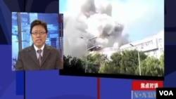 中国天津天津蓟县莱德商厦6月30日下午发生火灾