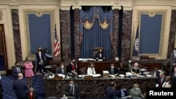 Một phiên bỏ phiếu ở Thượng viện Hoa Kỳ.