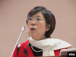台灣在野黨民進黨立委尤美女(美國之音張永泰拍攝)