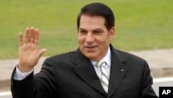 زین العابدین بن علی رئیس جمهوری پیشین تونس، که حکومت او به دنبال اعتراضات سراسری مردمی در سال ۲۰۱۱ سقوط کرد - آرشیو