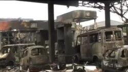 加納一加油站爆炸 至少73人死亡