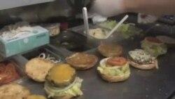 巴黎人喜爱快餐车美式汉堡包