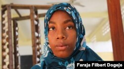 Mwanahamisi Abdallah, 15, avoided becoming a child bride in Tanzania by calling the police. Now she takes classes in computer science, cooking and textile arts, and hopes to one day become a fashion designer.