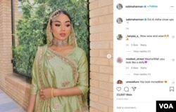 Sabina Hanan answers comments and questions about Islam and the Muslim culture on social media. This photo is from her Instagram account.